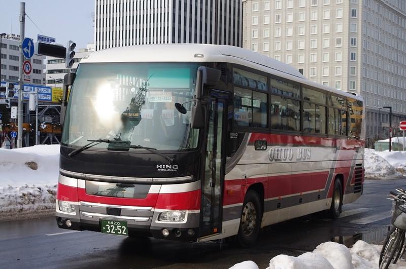 2013年2月13日 北海道中央バス札幌ターミナル前 撮影:MAPBUS