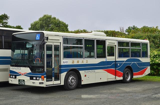 2013年8月30日 沿岸バス留萌営業所(許可を得て撮影) 撮影:HU2PMEE