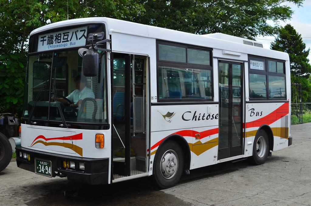 2013年8月25日 千歳相互観光バス本社(許可を得て撮影) 撮影:HU2PMEE