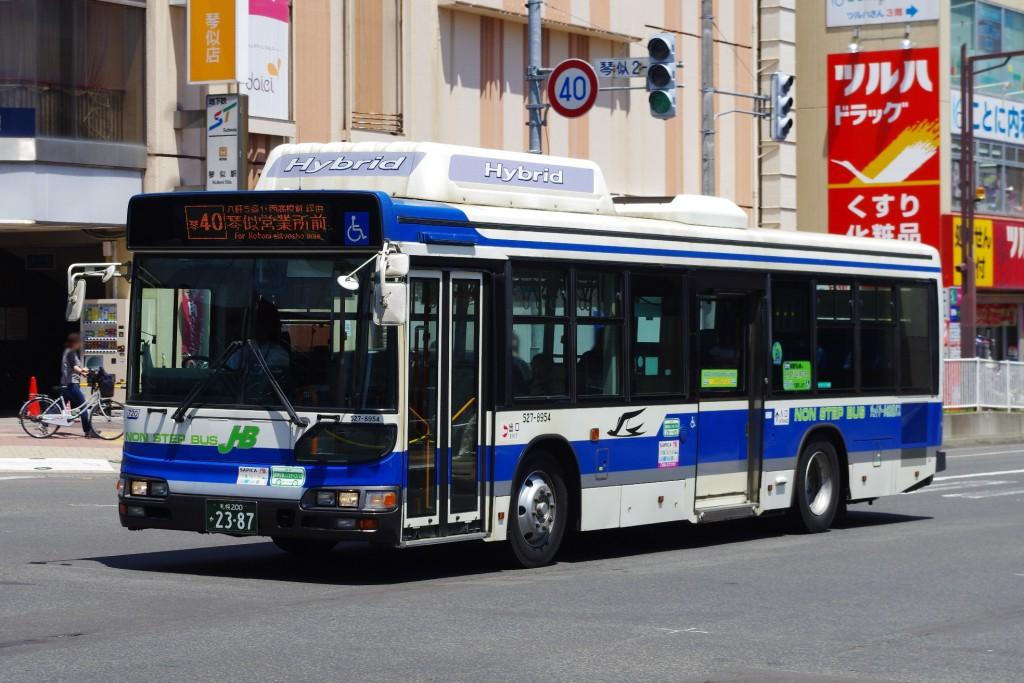 2015年6月 地下鉄琴似駅前付近 撮影:MAPBUS